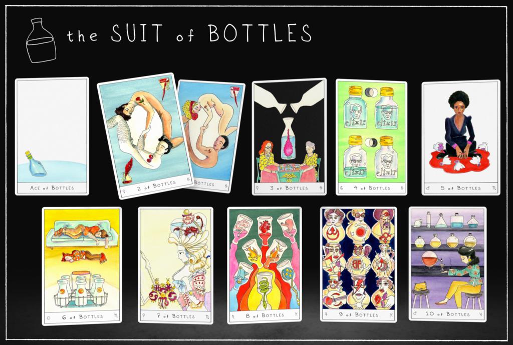Outsider Tarot Suit of Bottles