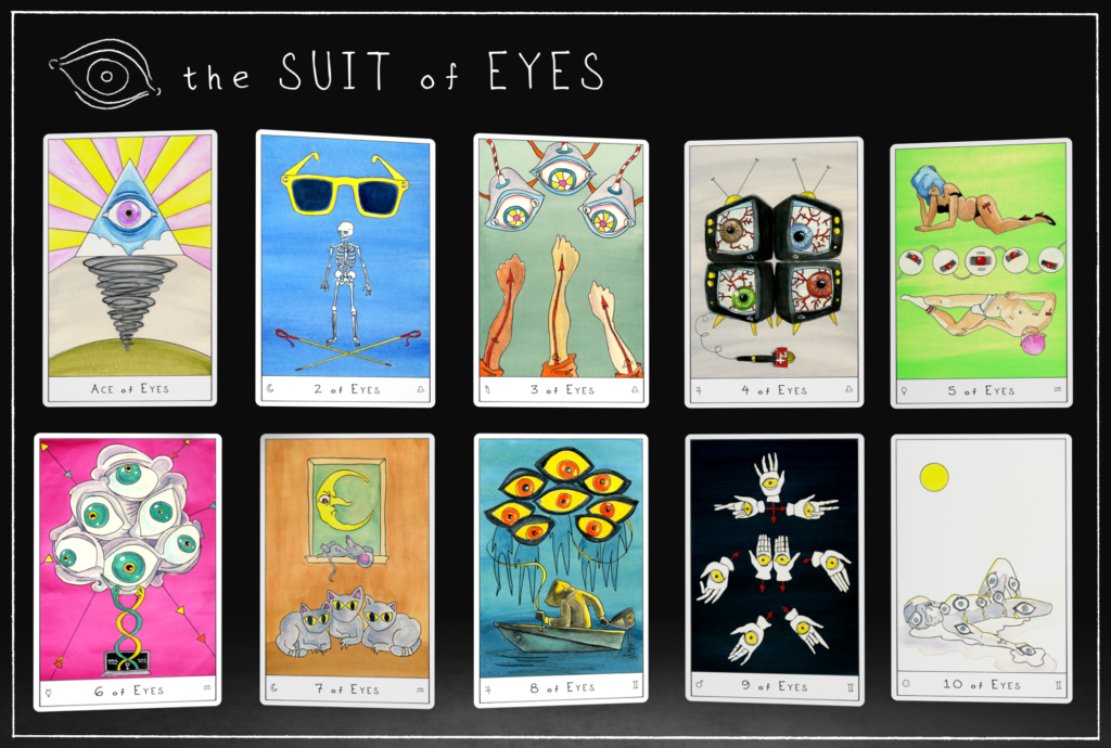 Outsider Tarot Suit of Eyes