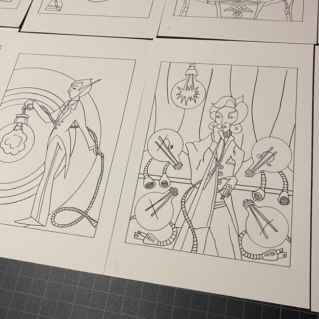 Art making process for the Outsider Tarot by Bobby Abate
